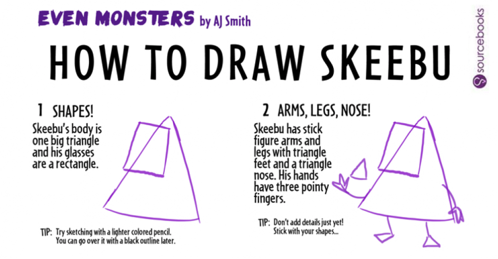 Even Monsters Drawing Sheet